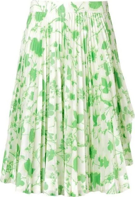 Calvin Klein Collection floral print pleated skirt