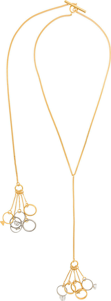 Jil Sander Multi ring necklace