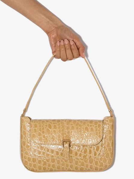 By Far Miranda crocodile embossed shoulder bag