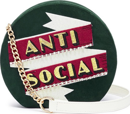 Cecilia Ma 'Anti Social' faux leather clutch