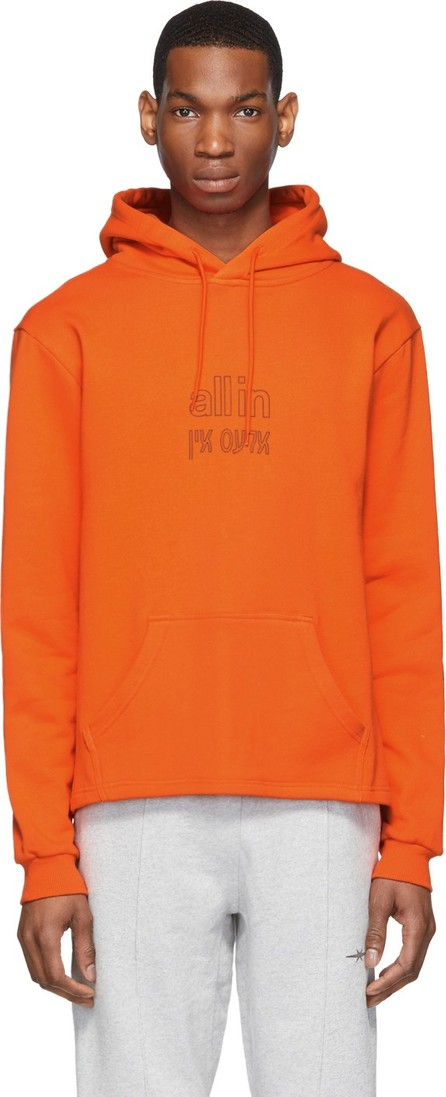 all in SSENSE Exclusive Orange Yiddish Hoodie