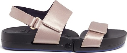 Figs By Figueroa 'Figulous' satin hinged slingback sandals