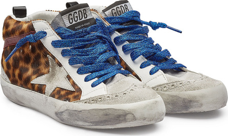 Golden Goose Deluxe Brand Mid Star Sneakers with Leather, Suede and Pony Hair