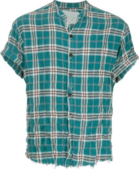 Greg Lauren Checked print shortsleeved shirt