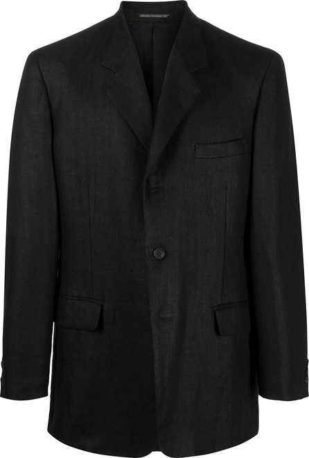 Yohji Yamamoto Fitted single breasted blazer