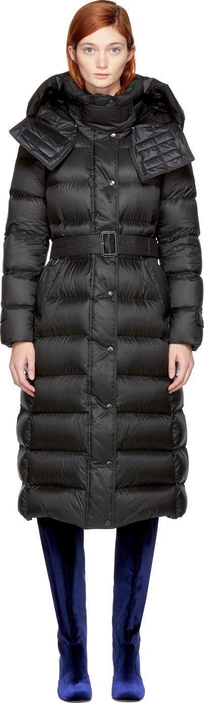 Burberry London England Black Down Kanefield Puffer Jacket