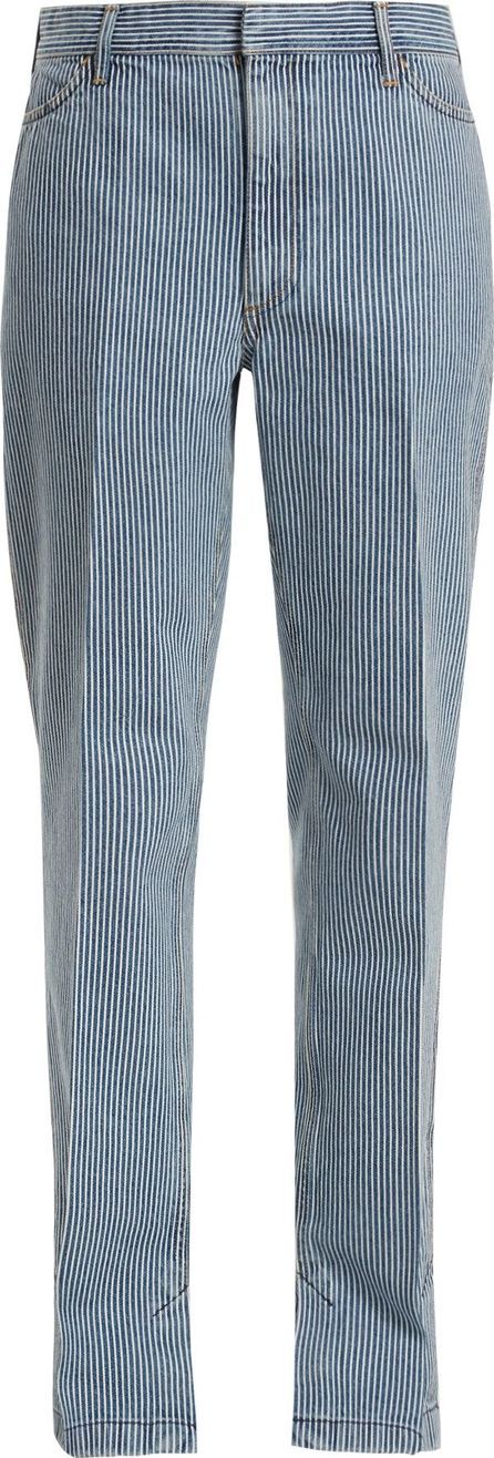 Toga Mid-rise straight-leg striped jeans