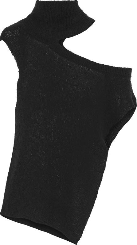 Ann Demeulemeester Cutout cotton-blend turtleneck sweater