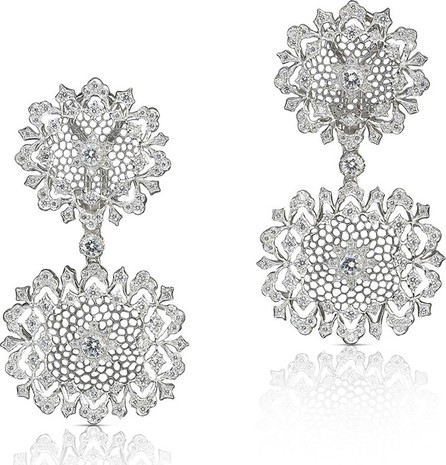 Buccellati 18k White Gold Diamond Drop Earrings