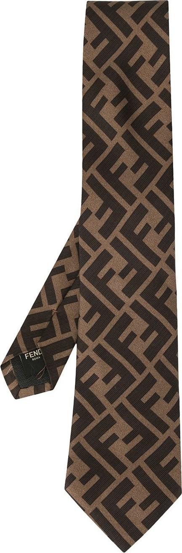 Fendi FF motif tie