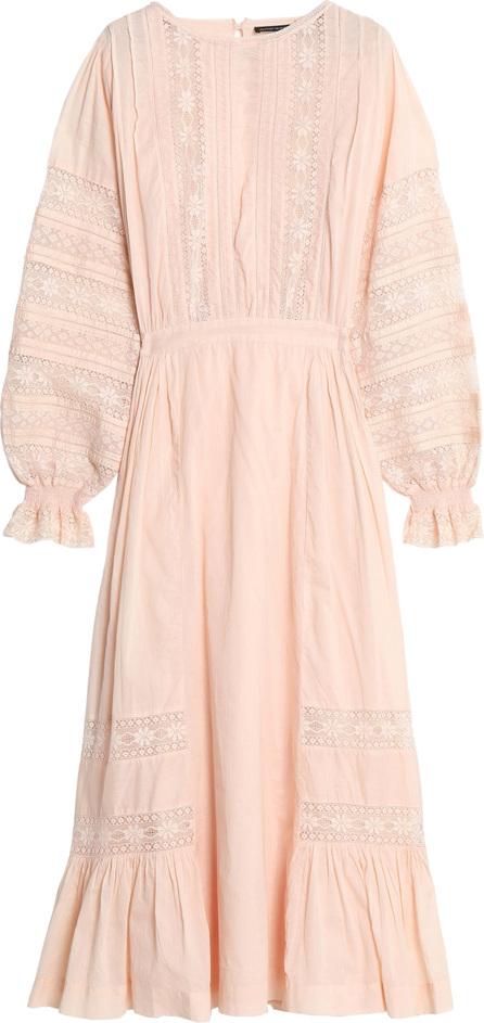 Antik Batik Romies crochet-trimmed cotton-voile midi dress