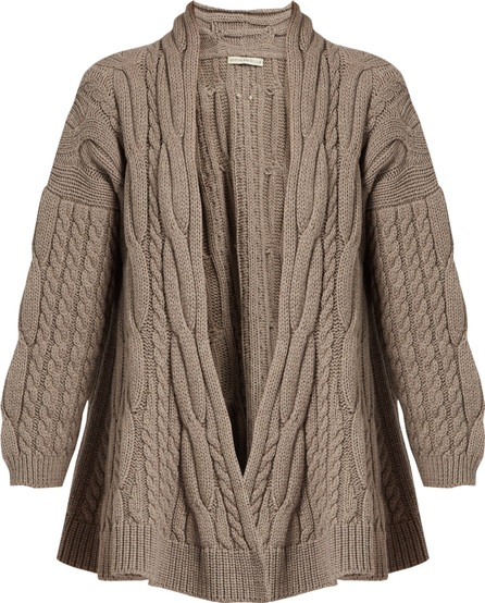 Queene and Belle Lou Lou cable-knit wool cardigan