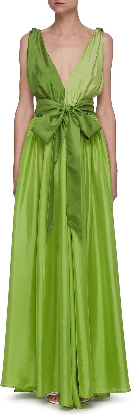 Kalita Adonis colourblock belted sleeveless silk dress