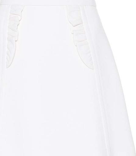 Miu Miu Virgin wool crêpe miniskirt