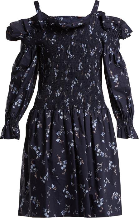 Rebecca Taylor Francine off-the-shoulder cotton dress