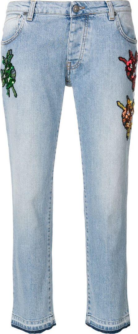 Gaelle Bonheur bug patch straight jeans