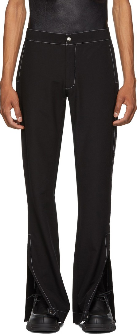 Daniel W. Fletcher Black Split Hem Trousers
