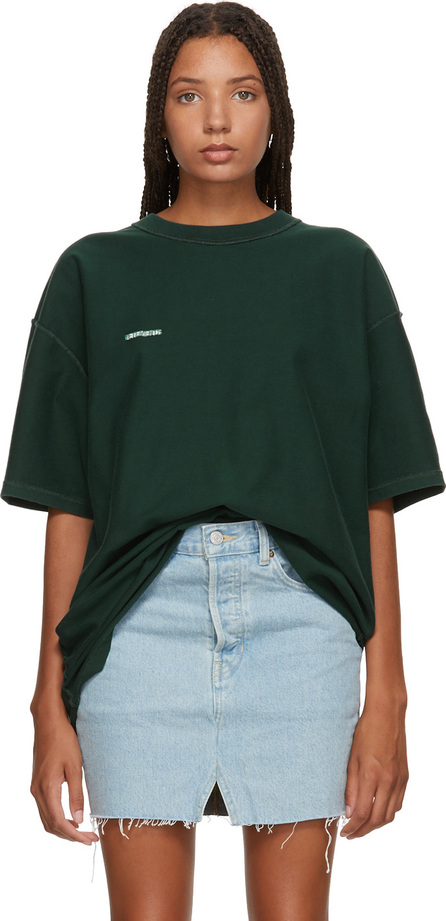 Vetements Green Oversized Inside-Out T-Shirt
