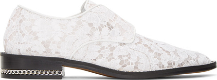 Givenchy White Lace Loafers