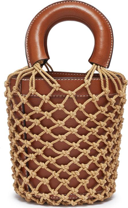 Staud 'Moreau' macramé net leather bucket bag