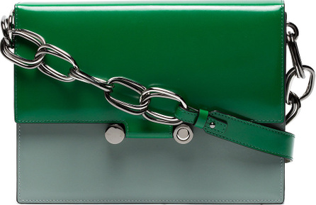 Marni Green Caddy Leather Shoulder Bag