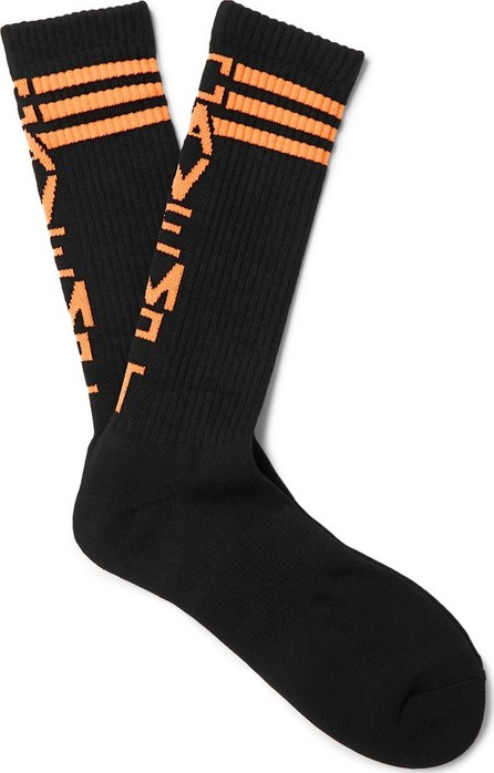 Cav Empt Logo-Intarsia Stretch Cotton-Blend Socks