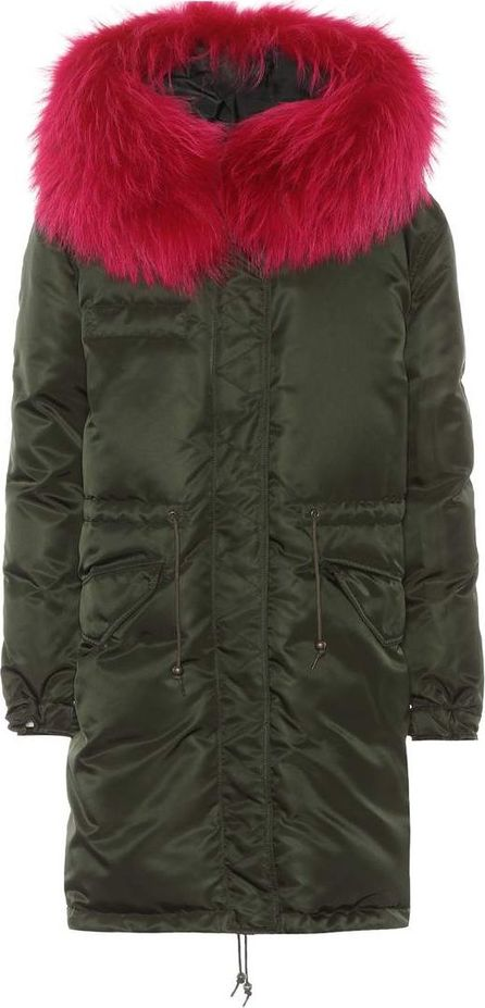 Mr&Mrs Italy Fur-trimmed down coat