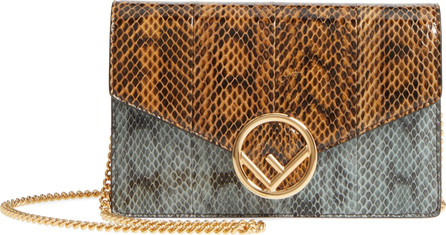 Fendi Genuine Snakeskin Wallet on a Chain