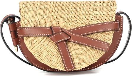 LOEWE Paula's Ibiza Gate Mini leather and raffia crossbody bag