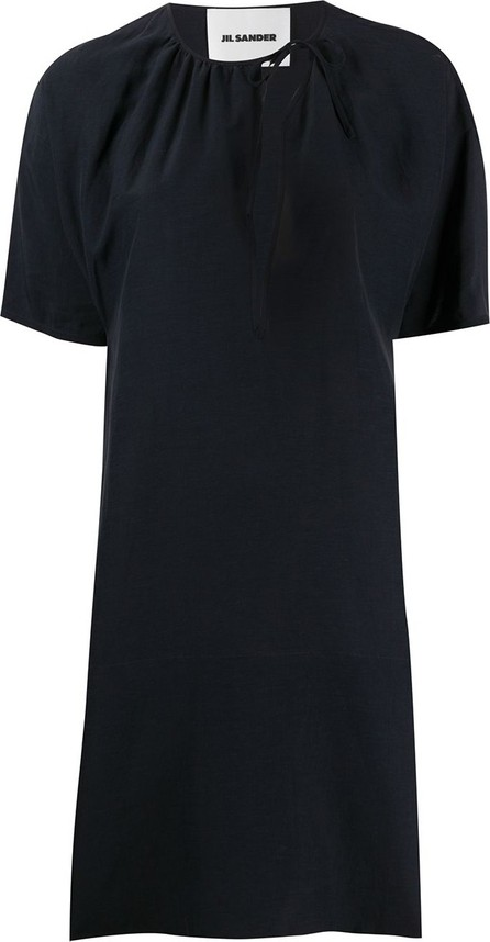 Jil Sander Tie-neck short dress