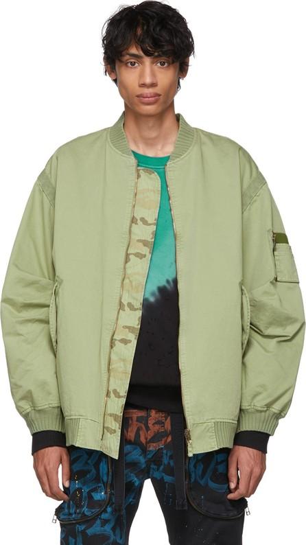 Faith Connexion Reversible Green Camo RVS Bomber Jacket