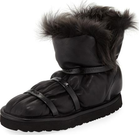 Stuart Weitzman Janica Leather Flat Winter Boots