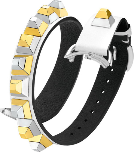 Fendi 17mm Dolce Stud White Leather Watch Strap