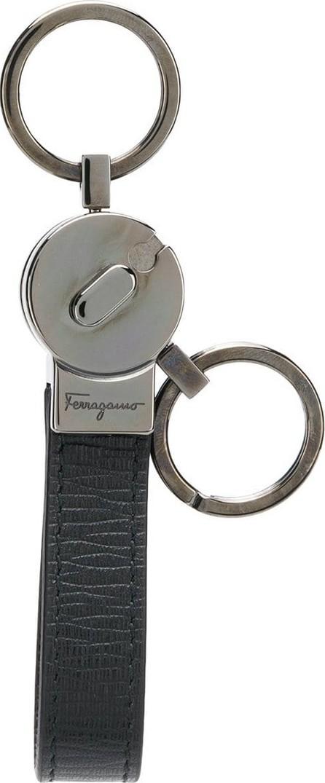Salvatore Ferragamo Embossed logo keyring