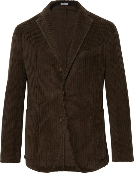 Boglioli Dark-Green Slim-Fit K-Jacket Cotton-Corduroy Blazer