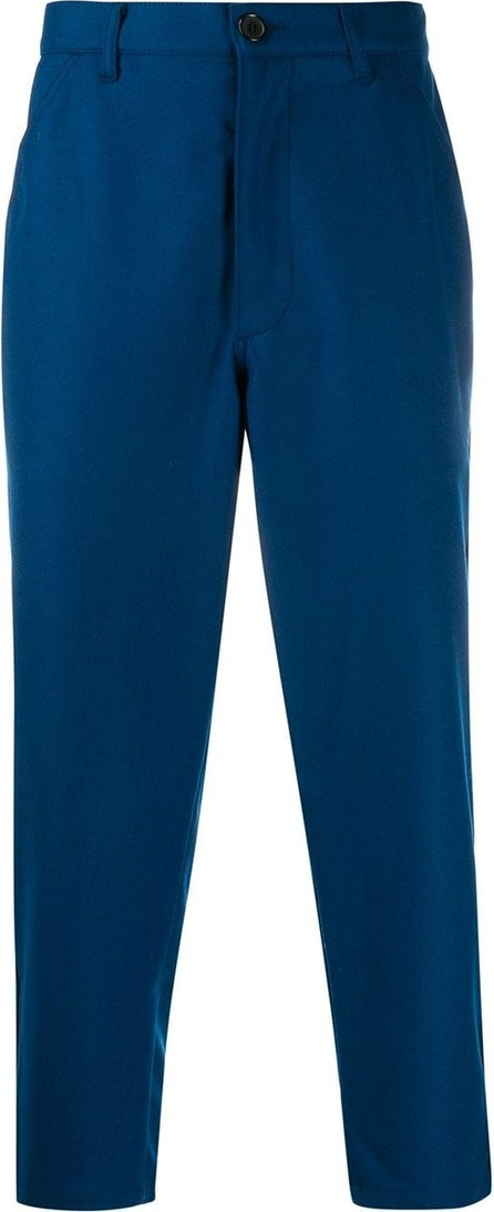 Comme Des Garcons Cropped straight-fit trousers
