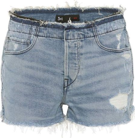 3X1 Stripped Shelter denim shorts