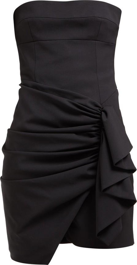 Alexandre Vauthier Ruched strapless wool-blend mini dress