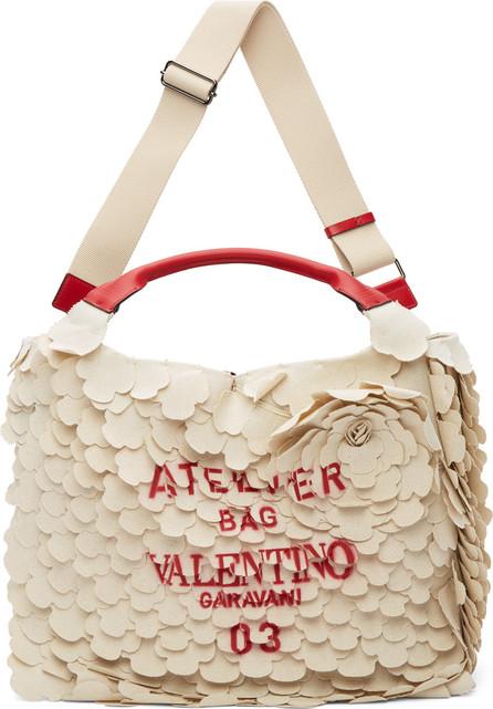 Valentino Beige Valentino Garavani 'Atelier Bag 03' Tote