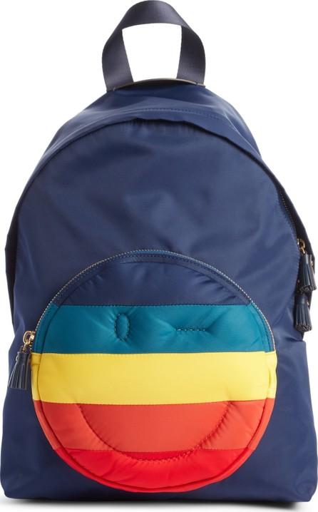Anya Hindmarch Rainbow Chubby Wink Nylon Backpack