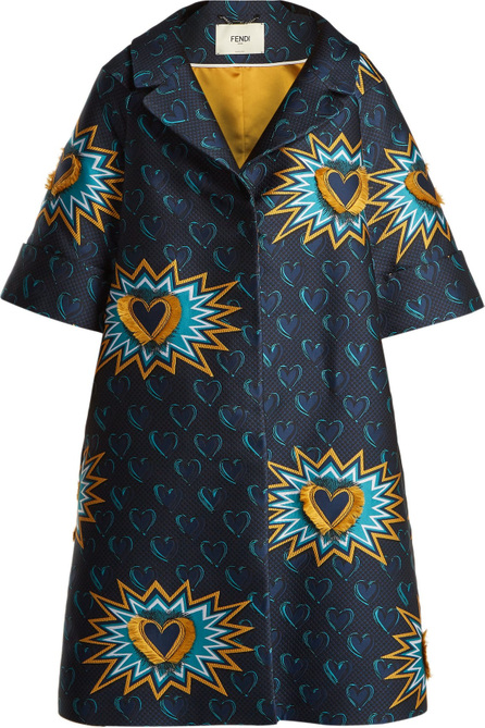 Fendi Heart Beat jacquard coat