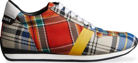 Burberry London England Tartan Cotton Sneakers