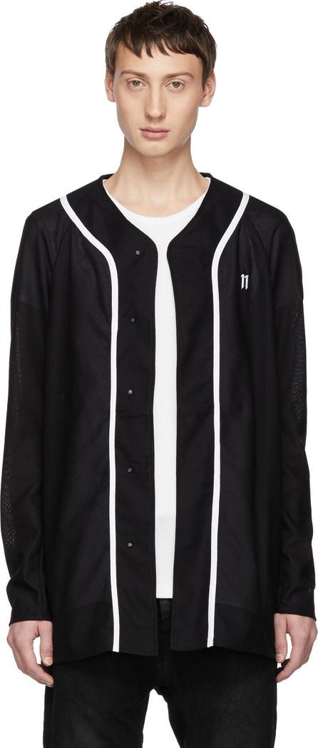 11 By Boris Bidjan Saberi Black Baseball Jersey Shirt
