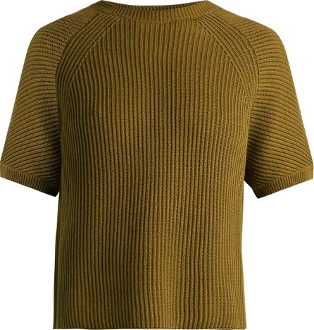 Weekend Max Mara Crossed-back cotton and wool-blend sweater