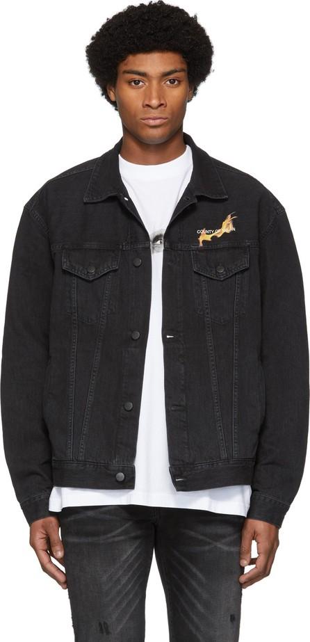 Marcelo Burlon Black NBA Edition Denim Fireball Jacket