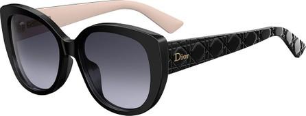 Dior DiorLady1 Oversized Cannage Cat-Eye Sunglasses