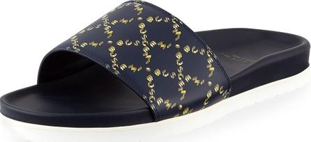Buscemi Men's Monogram Leather Slide Sandal