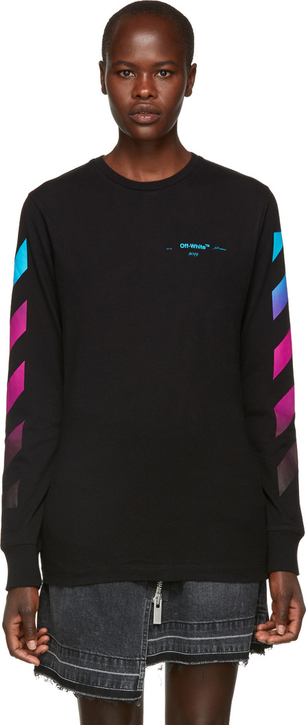 Off White Black Gradient Long Sleeve T-Shirt