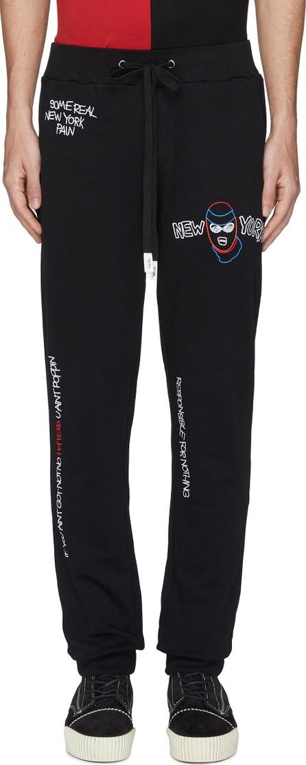 Haculla Mix slogan graphic embroidered jogging pants
