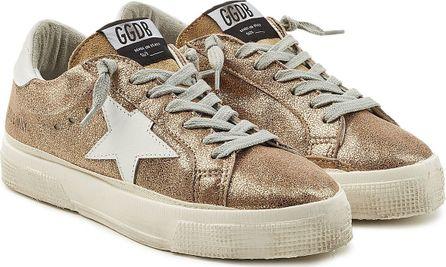 Golden Goose Deluxe Brand May Metallic Leather Sneakers